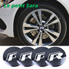 4pcs/lot 56mm R Logo Car Steering Wheel Badge Center Hub Sticker For VW Volkswagen Golf Jetta Polo Hub Cap Emblem Car styling