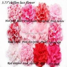 10 шт./лот, 3,75 ''шифоновые кружевные цветы Кружевная повязка на голову для девочки