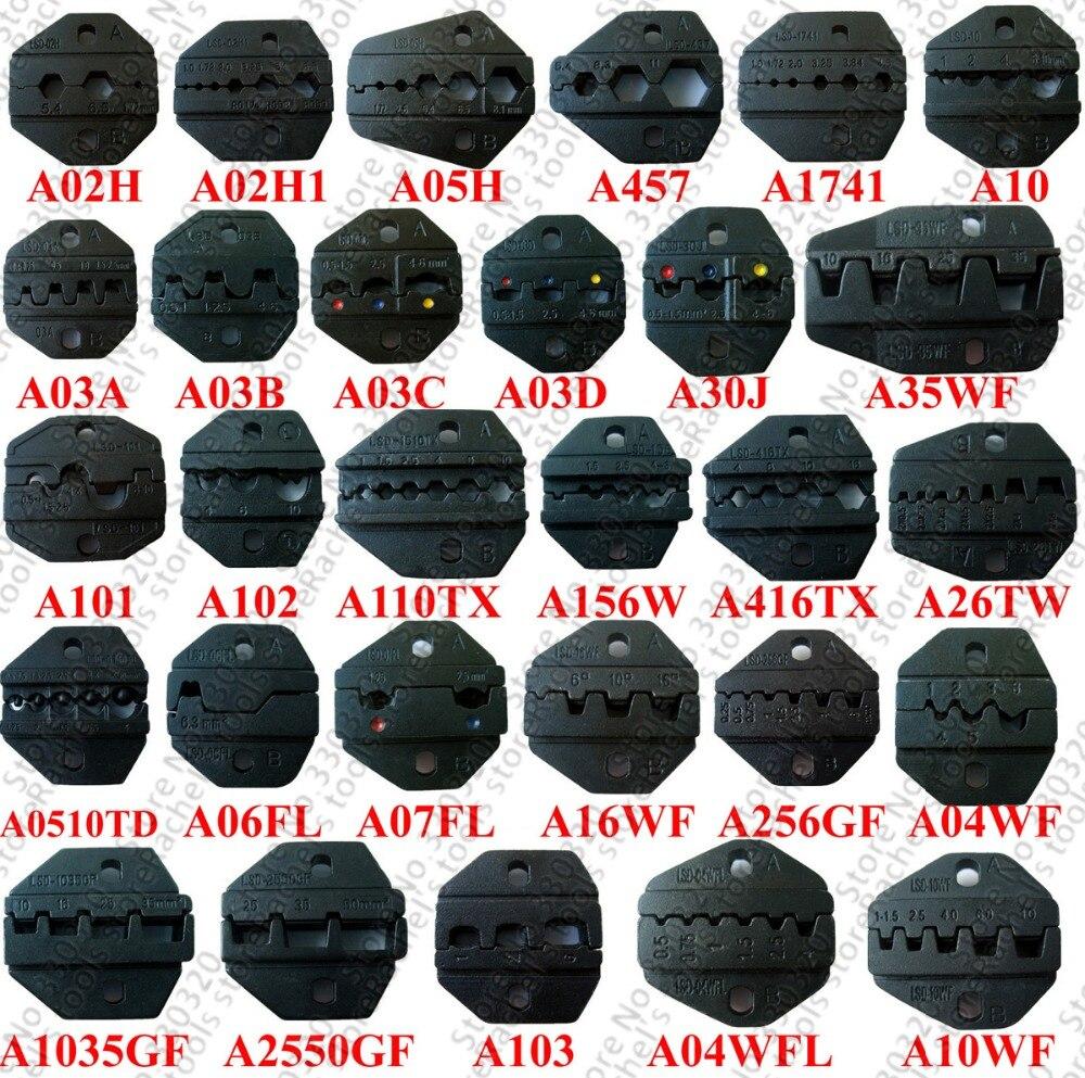 Hand Crimpzange Vereinigt Austauschbare Crimpgesenkes Sätze/backen Für Pneumatische Crimpzange Am-10 & Elektrische Crimp-werkzeug Em-6b2 $3/pcs