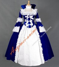 Hot Sell Victorian Corset Dress Medieval Velvet Vintage Stage Cosplay Costume