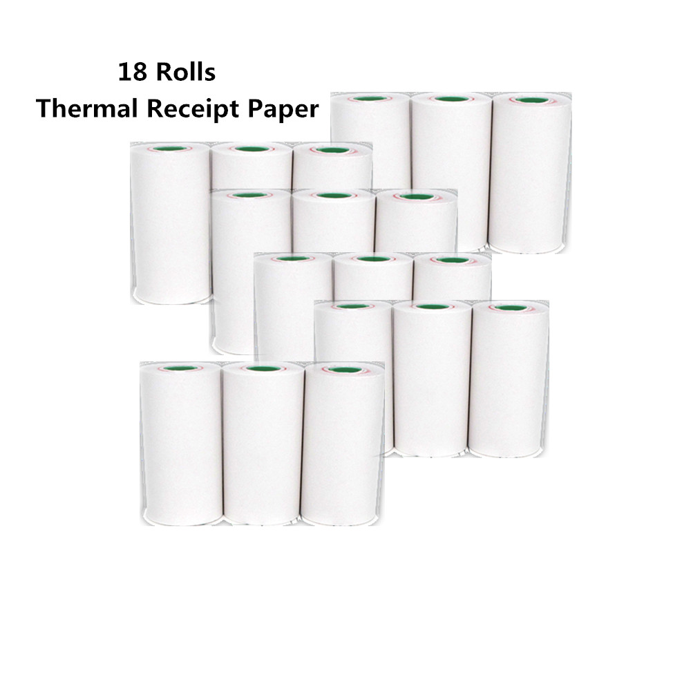 18 rolls thermal receipt paper