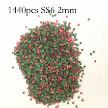 1440 stücke 1-2mm SS6 DIY Kristall Strass für Kleider Hotfix Strass Applikator Applique Dekorationen Nail art Strass(China)