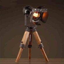 Hot Sale Vintage Industrial Loft Iron Retro Camera modeling Bedroom Tripod Table Desk Lamp liftable Light