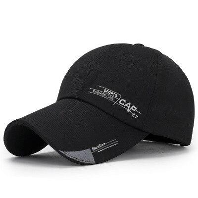 high quality spring autumn simple long eaves   baseball     cap   men sun visor leisure sun   caps   summer golf hat fashion cotton dad hats