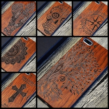 Древо жизни Тотем лист филиал Henna олова роскошь дерева телефона чехол для iPhone 5 5S 6 6 S 6 plus 6 S плюс 7 7 плюс Чехол деревянный Coque В виде ракушки