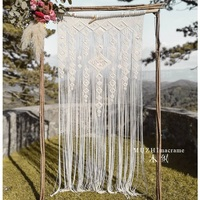 Bohemian retro outdoor lawn party wedding background curtain decoration hand woven tapestry 80cmx200cm