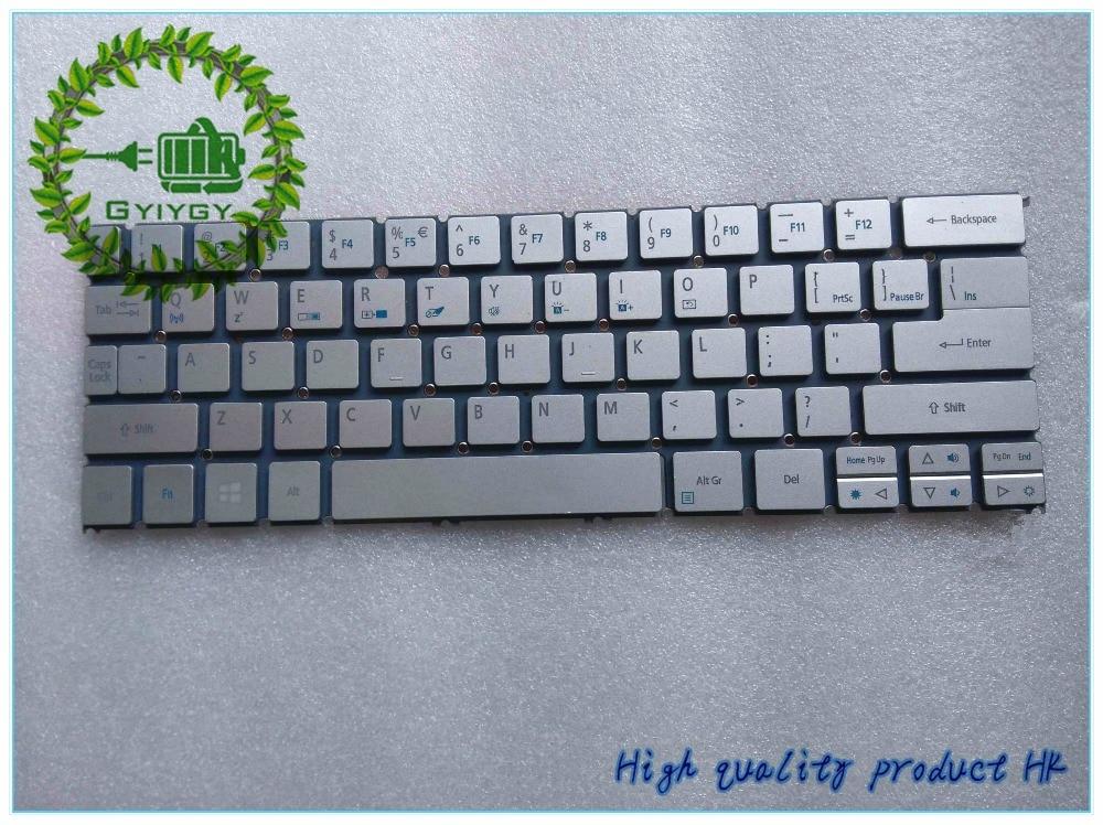 MP-12C5 Silver Ultrabook Laptop Keyboard US NO Backlit S7-392 Acer Aspire S7
