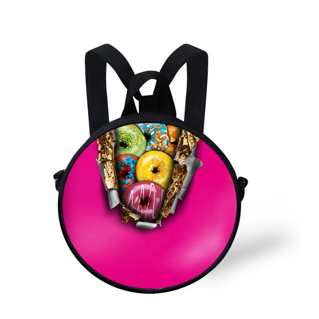 2016 Mini Niños Bolsos de Escuela Lindo Rosquilla Impresión Bolsa de La Escuela para Las Niñas Schoolbag Kindergarten Hombro Bookbag Mochila