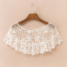 2019 Chic Summer Elegant Women Hollow Out Shawl Capes Lady White Kintt