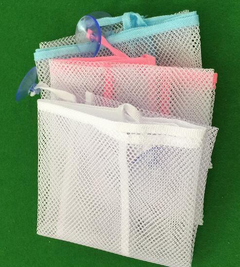 100 pcs New Arrive Baby Toy Mesh Storage Bag Bath Bathtub Doll Organizer Suction Bathroom Stuff Net