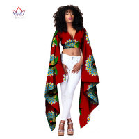 African Bazin Riche Clothes Sexy Women Short Tops t Shirt for Women Crop Top Long Sleeve Fashion Designs Clothes 6XL WY1154