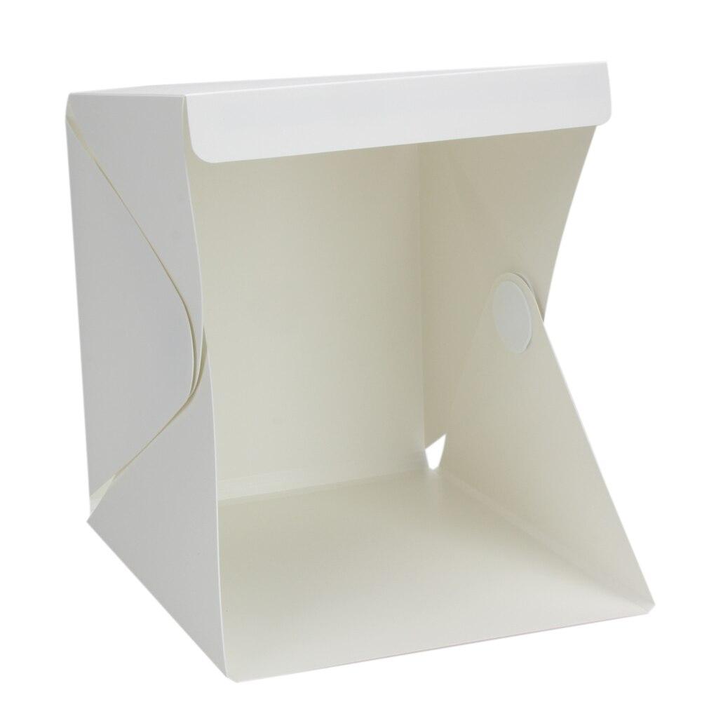Faltbare Leuchtkasten Tragbare Licht Zimmer Fotostudio Fotografie Hintergrund Mini Cube Box Beleuchtung Zelt Kit 22,6*23*24 cm