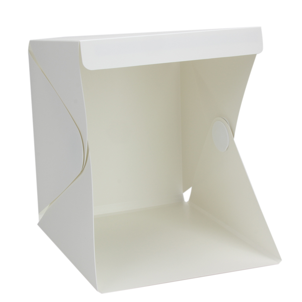 Foldable Lightbox Bærbar Light Room Photo Studio Fotografi Bakgrunn Mini Cube Box Lighting Telt Sett 22,6 * 23 * 24cm
