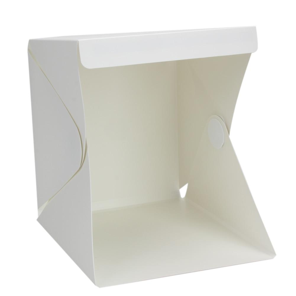 Plegable lightbox Luz Portátil Sala Kits de estudio de fotografía telón de fondo mini cubo caja Iluminación tienda kit 22.6*23*24 cm