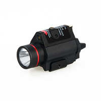 New arrival 3W H2 aluminum M6R flashlight with red laser lumens 180LM Bulb CREE Q5 gs15 0096