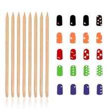 25pcs/set Nail Art Wood Stick Double Head Wood Dotting Pen Nail Cuticle Pusher Remover Manicure Nail Art Tool LPW недорого