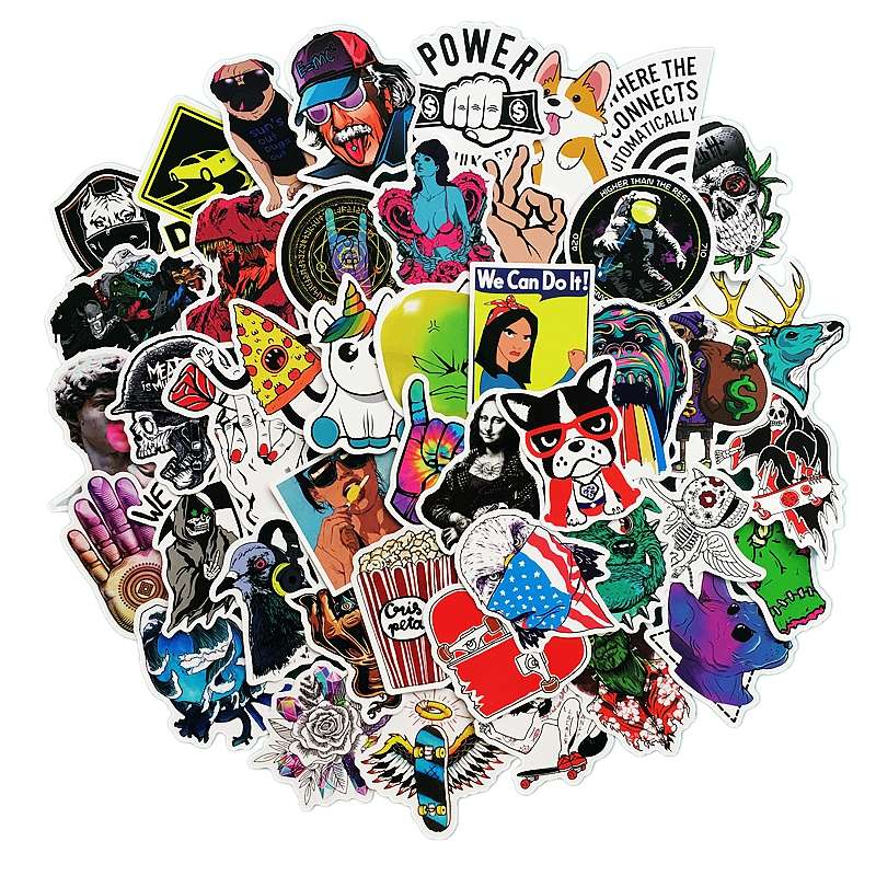 50 Pcs/Pack Graffiti Stickers For Skateboards