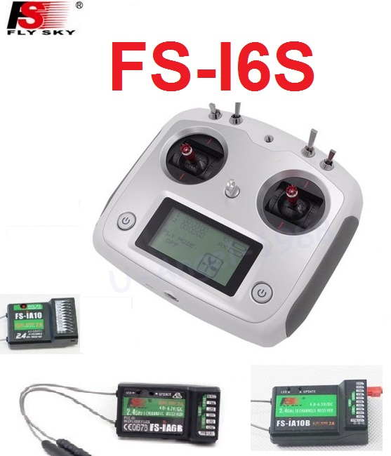 Flysky FS-i6S Remote Controller 10CH 2.4G with Touch Screen + FS iA6B iA10 FS-iA10B Receiver for RC cars boats Drone toys туалетный столик столплит версаль сб 2319 белый ясень