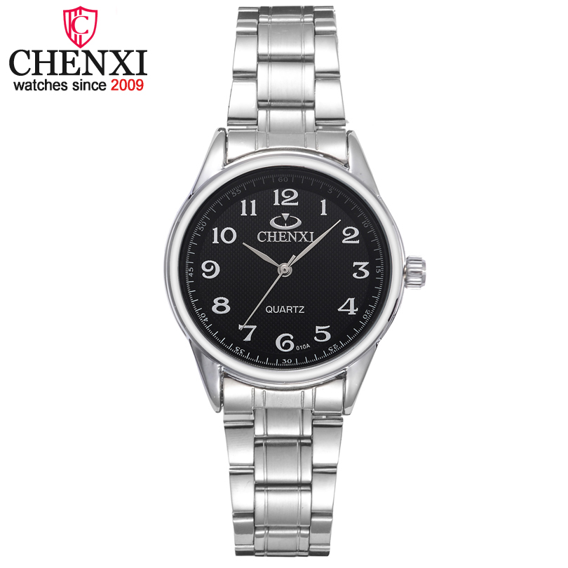 CHENXI Brand Classic Luxury Quartz Ladies Watches Fashion Noble Gift Clock Women Wristwatch Stainless Steel Silver Female Watch chenxi ladies watches silver stainless steel wrist watch for women fashion dress quartz 5 color analog casual female clock