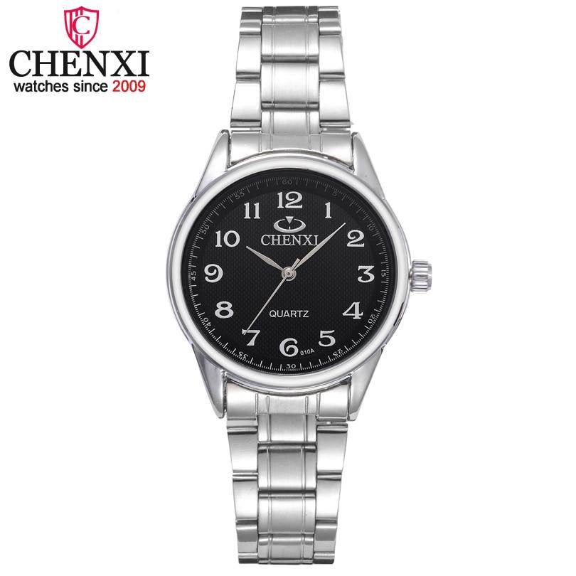CHENXI Marque Classique De Luxe Quartz Dames Montres De Mode Noble Cadeau Horloge Femmes Montre-Bracelet En Acier Inoxydable Argent Montre Femme
