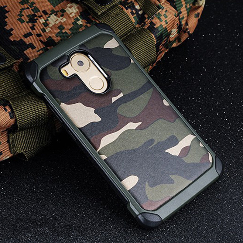 Army Camo Pattern back cover TPU Armor Anti-knock case For Huawei GR5 2017 Mate 8 9 10 P8 P9 P10 Lite Plus Honor 6X Y7 Prime Pro