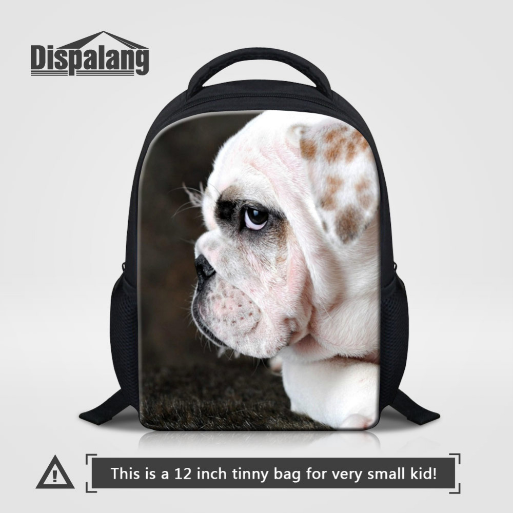 Dispalang Animals Print Mini School Bag for Girls Cute Dog Small Baby Backpacks Kids School Backpacks for Kindergarten Book Bag