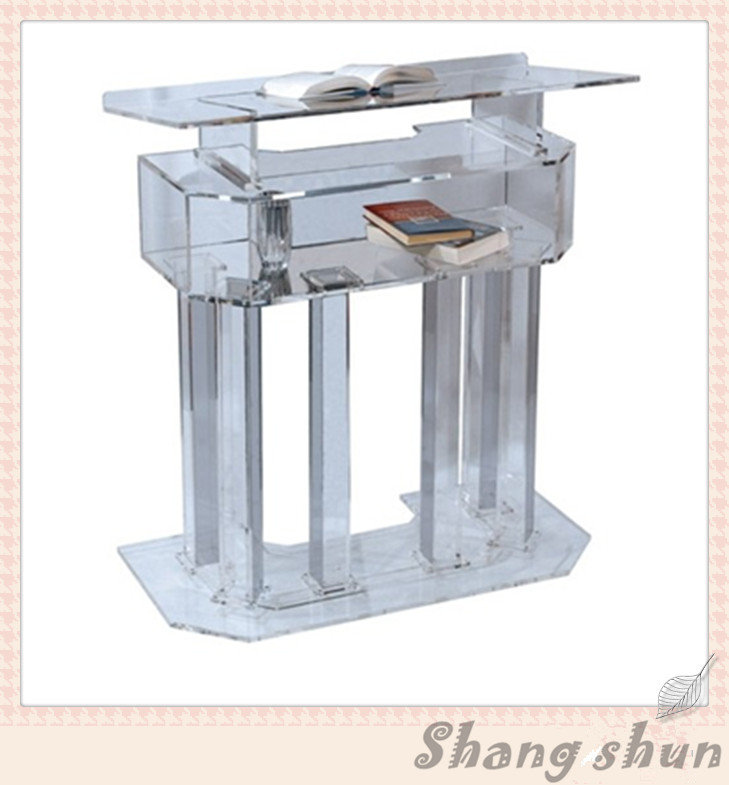 Acrylic Lectern Acrylic Pulpit Podium, Acrylic Pulpit Furniture, Plexiglass Church Pulpit Plexiglass