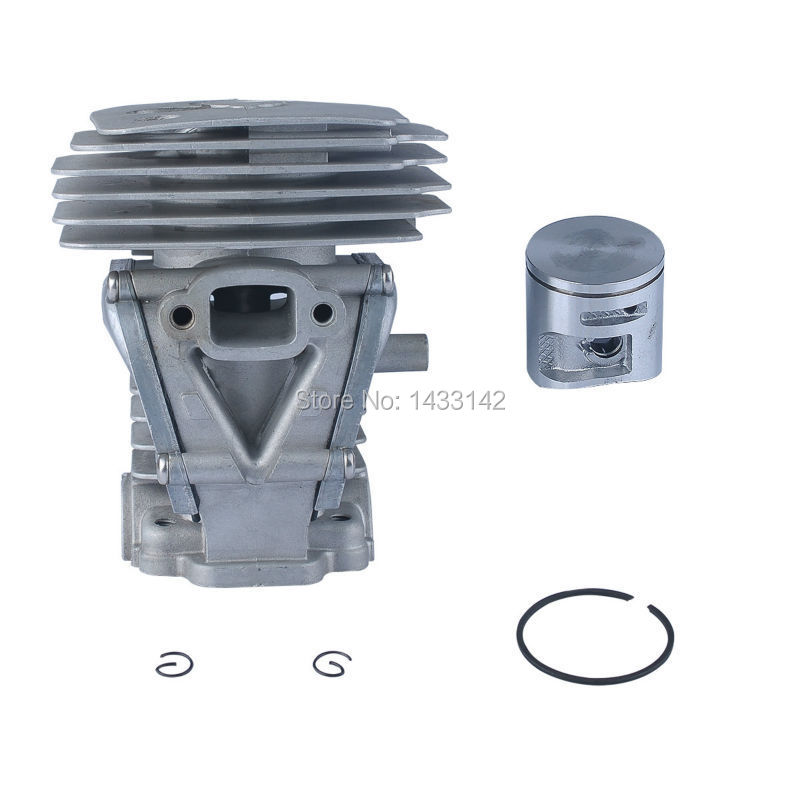 44MM Cylinder Piston Kit For 450 450e 50.2 cc Replace 544 11 98-02 High quality 44mm cylinder piston ring pin kit for husqvarna 445 445e 450 450e chainsaw 544 11 98 02 nikasil plated replacement parts