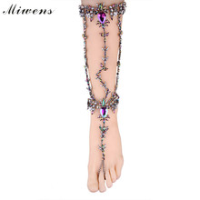 Miwens Brand Hot selling Free shipping Europe Style Trendy Fashion Jewelry Crystal Anklets For Women 7930