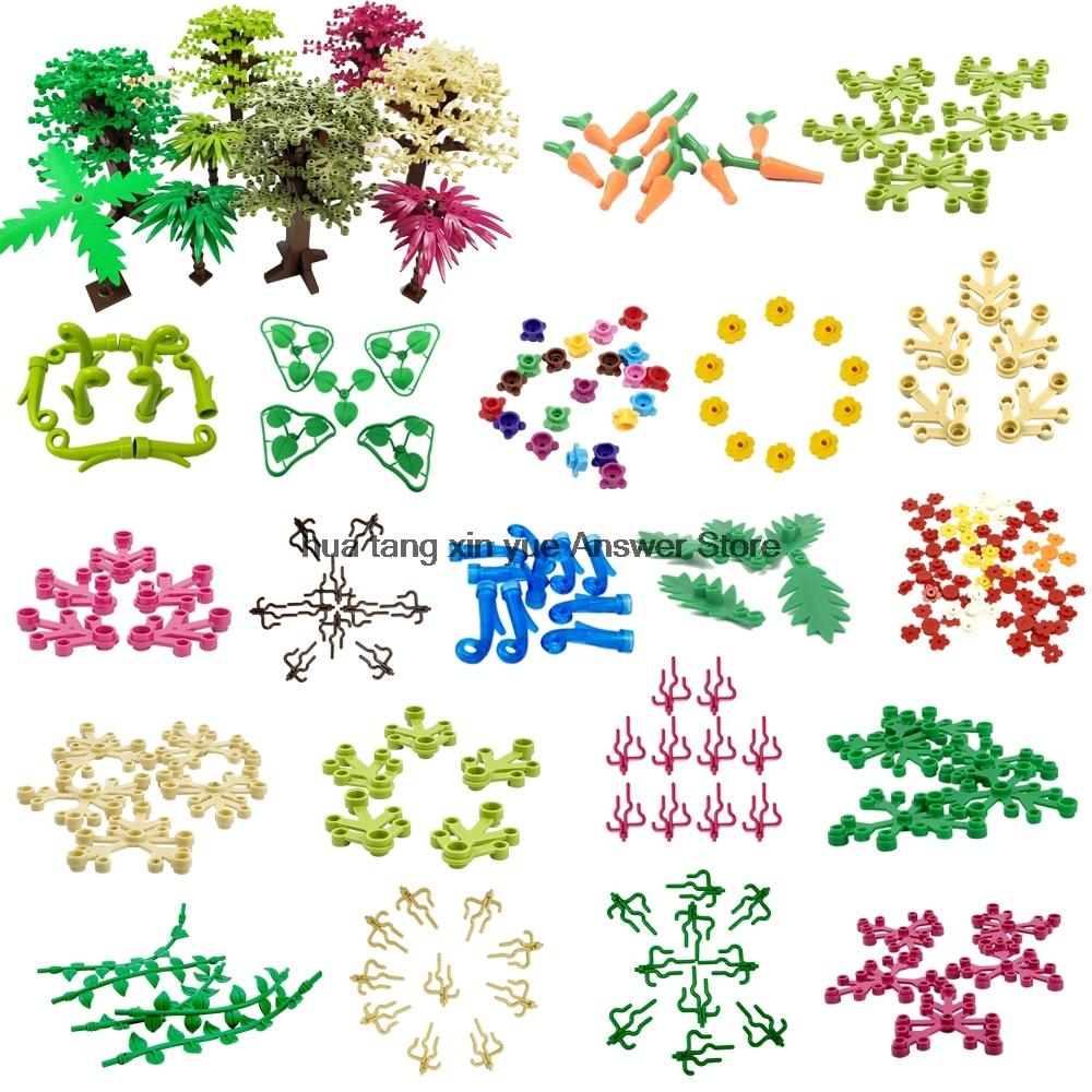 Bien éDuqué Legoing Moc Série De Plantes Créatives Arbre Algues Branches Pétale Décoration De La Maison Ensemble De Petites Pièces Bricolage Blocs De Briques Enfants Jouets Legoings