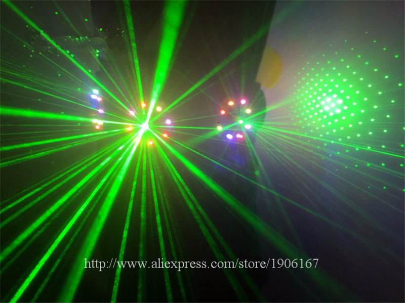Colorful led green laser belt waistband girdle 13