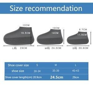 Image 2 - 1 paar Silicone Overschoenen Waterdichte Regendicht Herbruikbare Schoenen Covers Regen Laarzen antislip Unisex Protectors voor Regent Outdoor