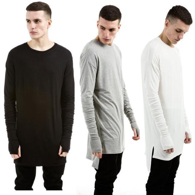 Longline Mens T Shirts Fashion 2015 Urban Clothing Kpop