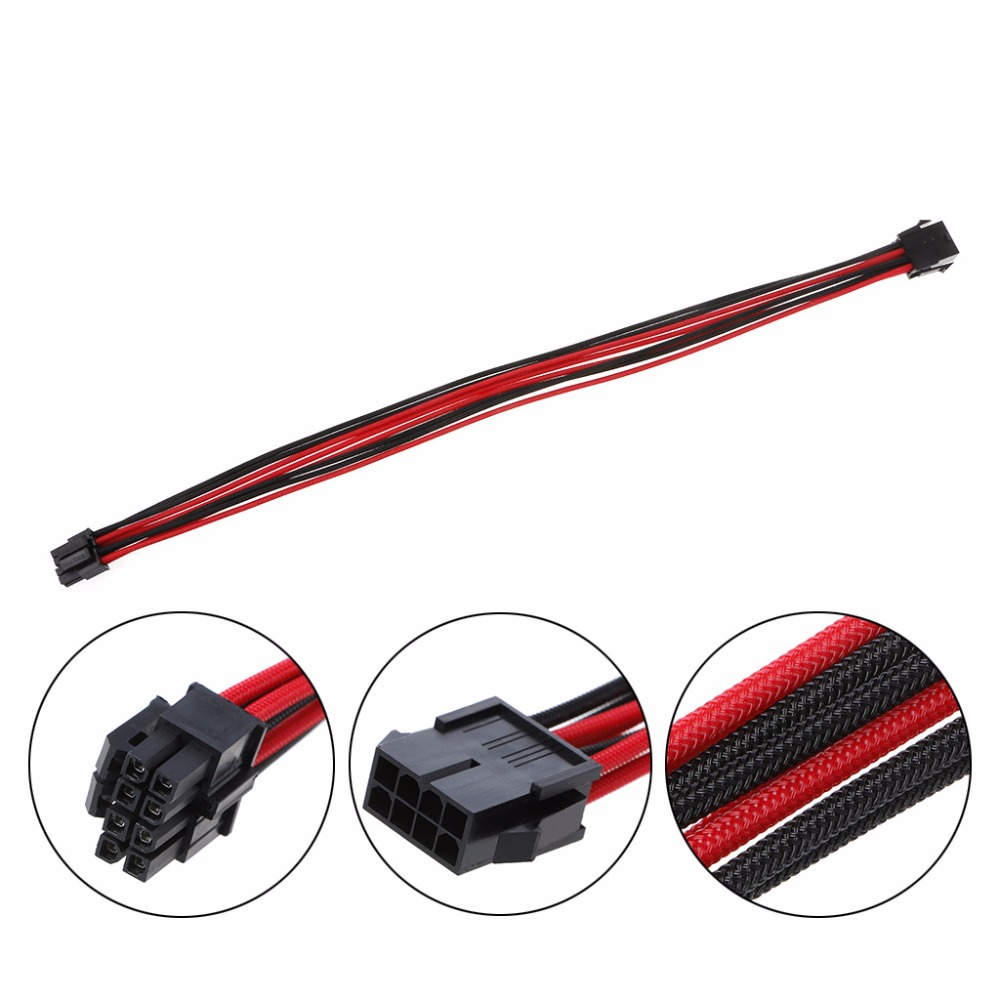 CPU 8pin to 4+4Pin Power supply Flat Cable P8 to P4 for Corsair AX860i AX760i