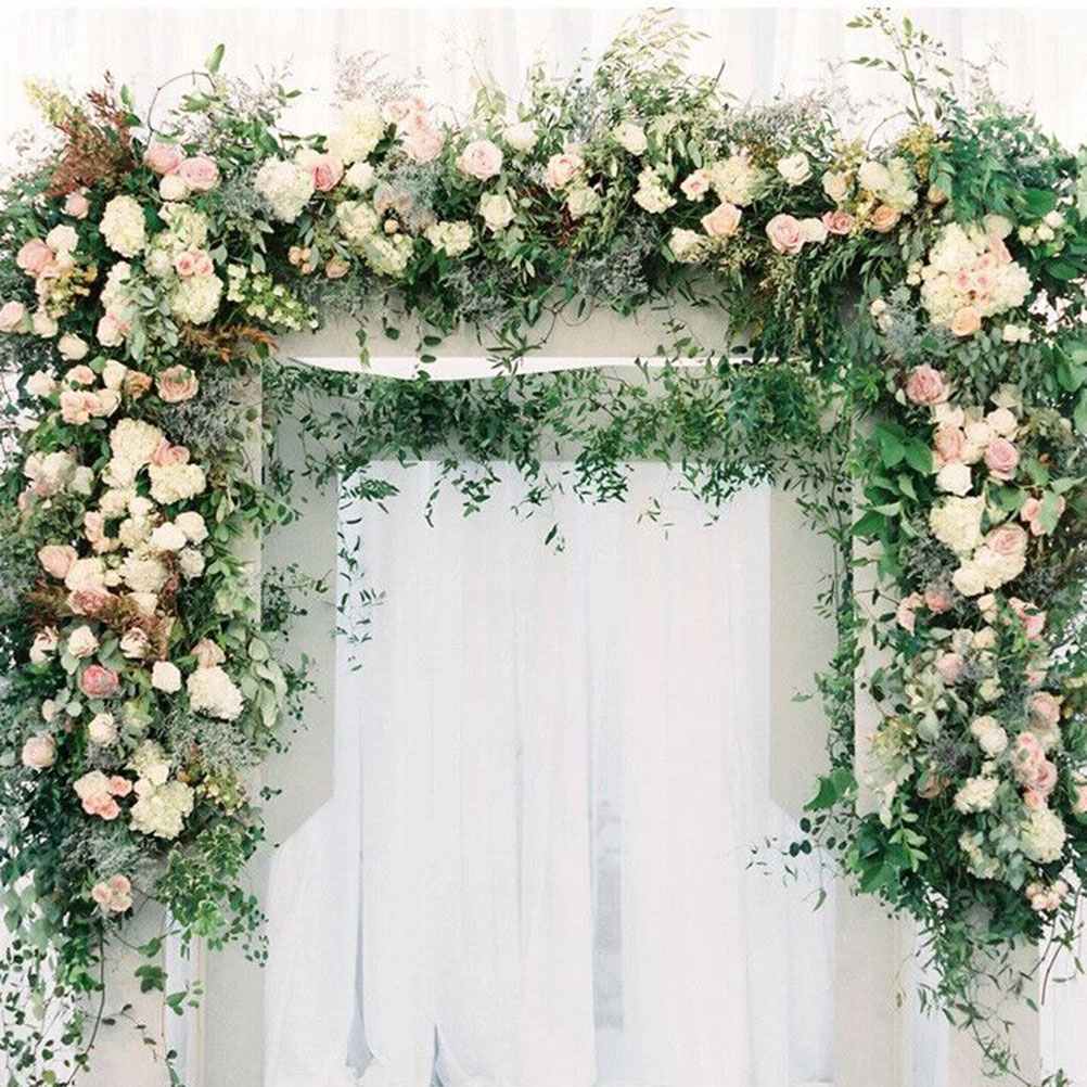 10pcs Artificial Plants Leaves Shape Tea Tree Backdrop Artificial Greenery Vines Foliage For Wedding Wall Hanging Leaf Garland
