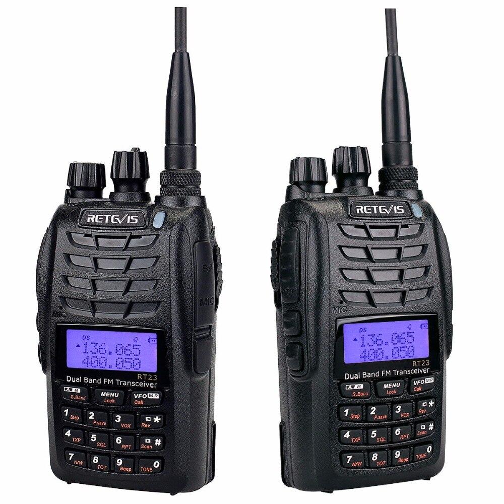 Retevis RT23 Dual Receive Walkie Talkie Dual PTT 5W 128CH VHF UHF - Voki-toki - Foto 3