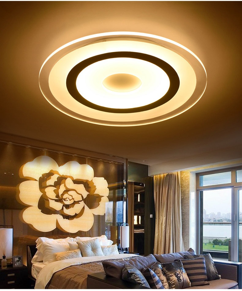 Ultra-thin color led ceiling modern minimalist living room / bedroom round - Restaurant - study lamp ultra living ultra living monochromatic adventure