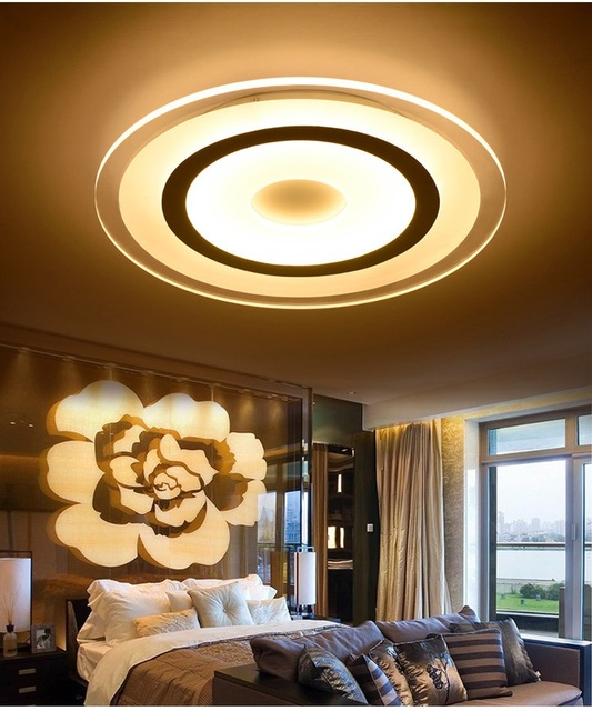 Ultra-thin color led ceiling modern minimalist living room / bedroom round - Restaurant - study lamp