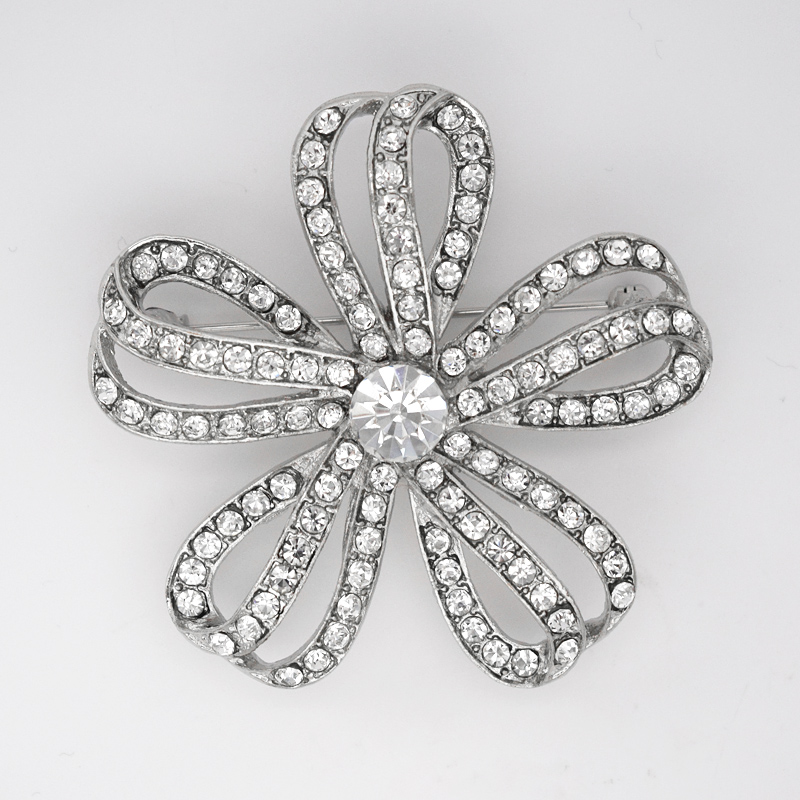 12 pcs/lot en gros strass fleur broches broches de mariage fête bijoux broche C101276-in Broches from Bijoux et Accessoires    1