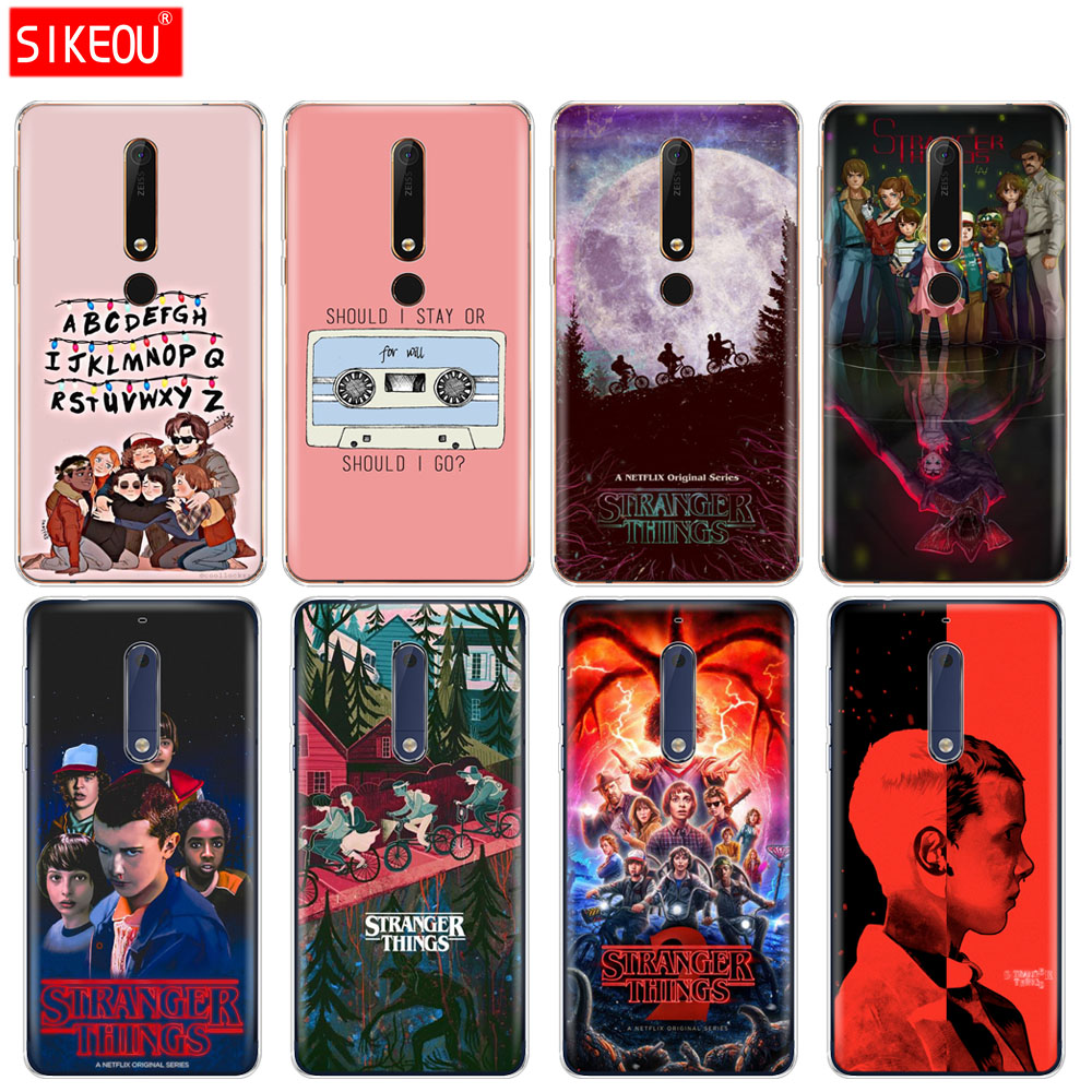 silicone cover <font><b>phone</b></font> <font><b>case</b></font> for <font><b>Nokia</b></font> 5 3 6 7 PLUS 8 9 /<font><b>Nokia</b></font> 6.1 <font><b>5.1</b></font> 3.1 2.1 6 2018 stranger things image