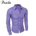 Men Shirt 2016 Fashion Brand Of Men'S Body Summer Breathable a thin Section Hawaiian Long-Sleeved Shirt
