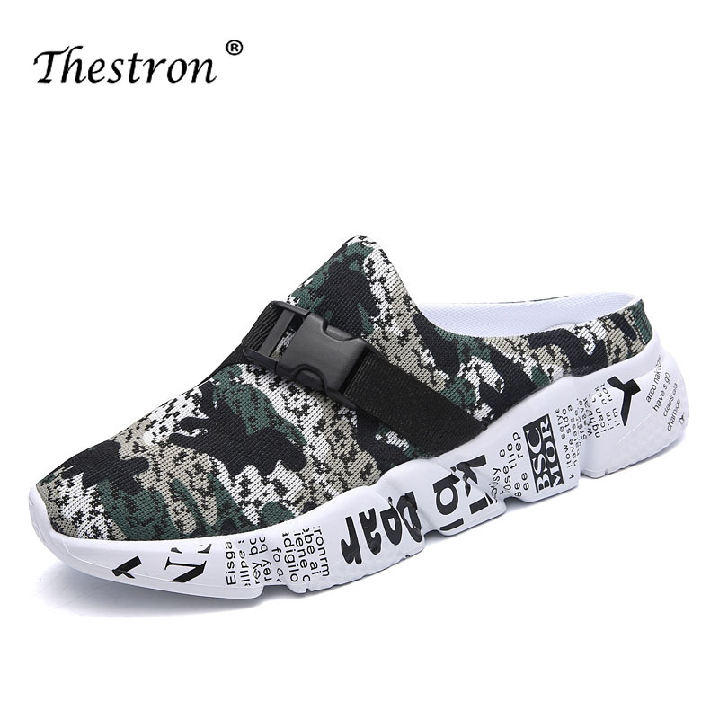 Size 39 46 Summer Men Slippers Men Shoes Summer Sandals Lightweight Men Slides Cheap Men Footwear Mens Mesh Breathable Slippers in Men 39 s Casual Shoes from Shoes