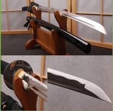 Brandon Swords 1060 Carbon Steel Knife Sharp Wave Hamon Blade Japanese Katana Black Full Tang Training Samurai Sword Metal Deco