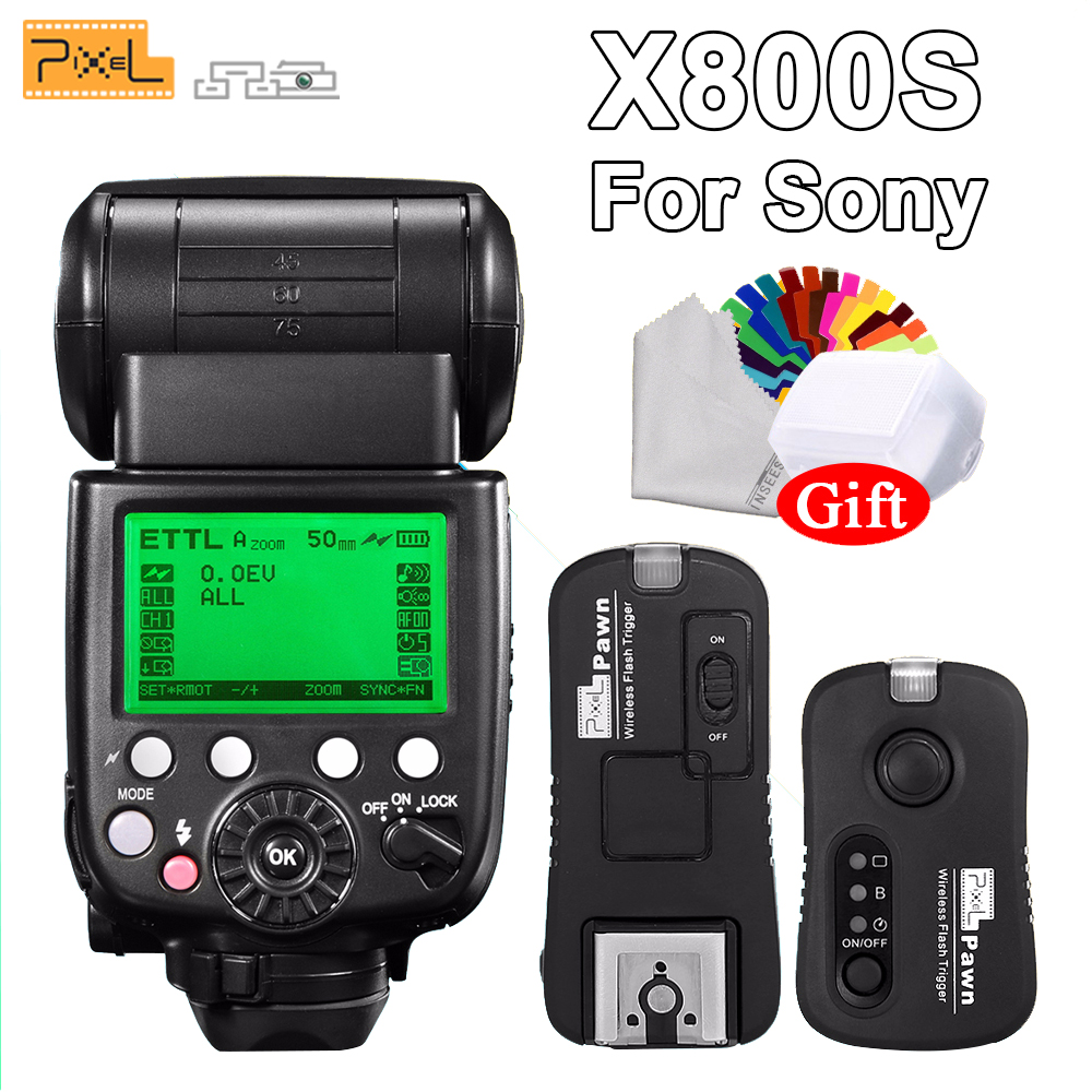 PIXEL X800S Standard 2.4g TTL HSS Speedlight + TF-365 Sans Fil Déclencheur Flash Pour Sony A7S A7SII Un RX1 HX50 a6000 A6300 DSLR Caméra