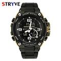 Модные спортивные часы Stryve  мужские водонепроницаемые кварцевые часы с обратным отсчетом  цифровые  военные  для улицы