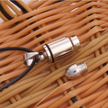 Cool Unisex Punk Stainless Steel Charm Bullet Pendant Necklace Chain Gift
