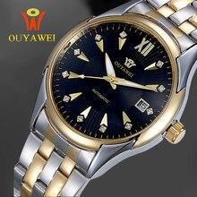 Оригинальные OUYAWEI montre homme мужчины механические часы Аналоговые авто календарь спорт армия наручные часы relojes hombre 2016 automatico