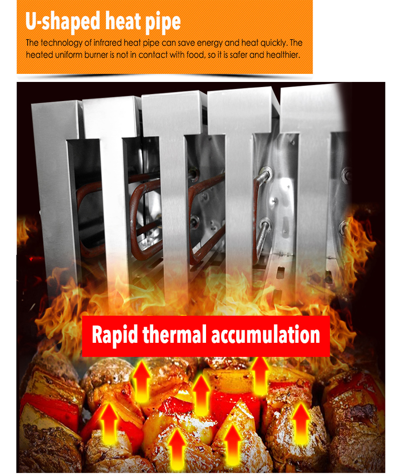 HTB1ckhCN9rqK1RjSZK9q6xyypXav - 1  electric oven machine for Commercial small electric grill equipment