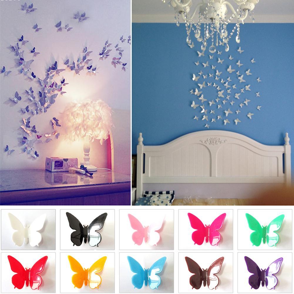 online get cheap butterfly wall art aliexpress com alibaba group 80 pcs butterfly wall art sticker home decor wall decal wallsticker interior decoration bathroom bedroom dinning