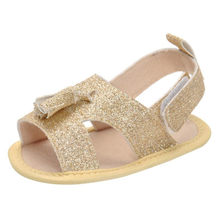 ARLONEET Girl Solid Bling Tassel Princess Shoes Baby Anti-slip Soft Sandals Casual Shoe Girl 0 to 12 Months Drop Shipping 30S522(China)